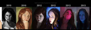 Self portraits over time. by Suzanne-Helmigh