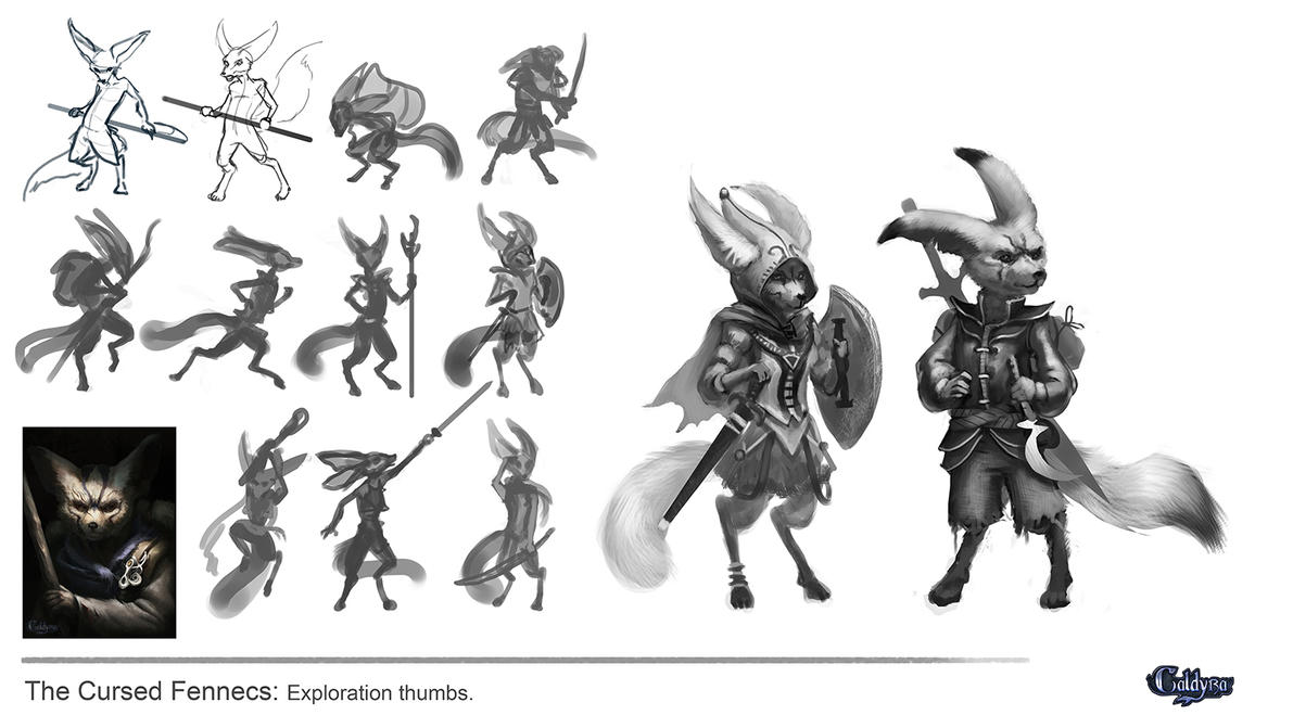 The cursed Fennec's Thumbnail sketches by Suzanne-Helmigh
