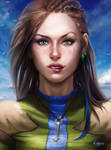 Ninae solhelm (finished portrait)