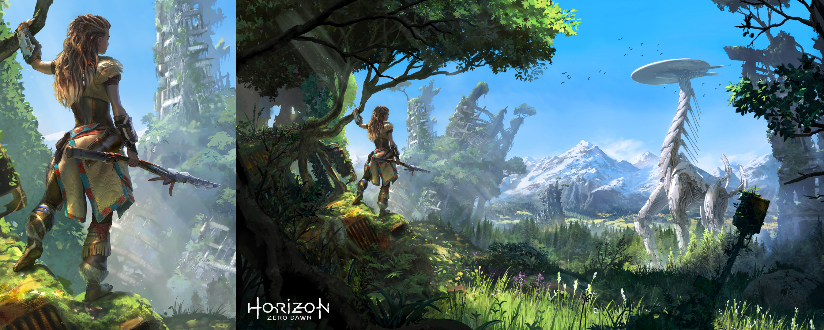 Horizon zero dawn trailer guerrilla post apocalyptic - Horizon zero dawn android wallpaper ...