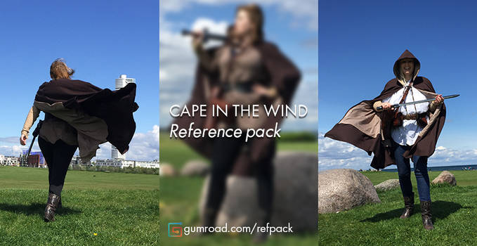 Reference photo's with cape's in the wind