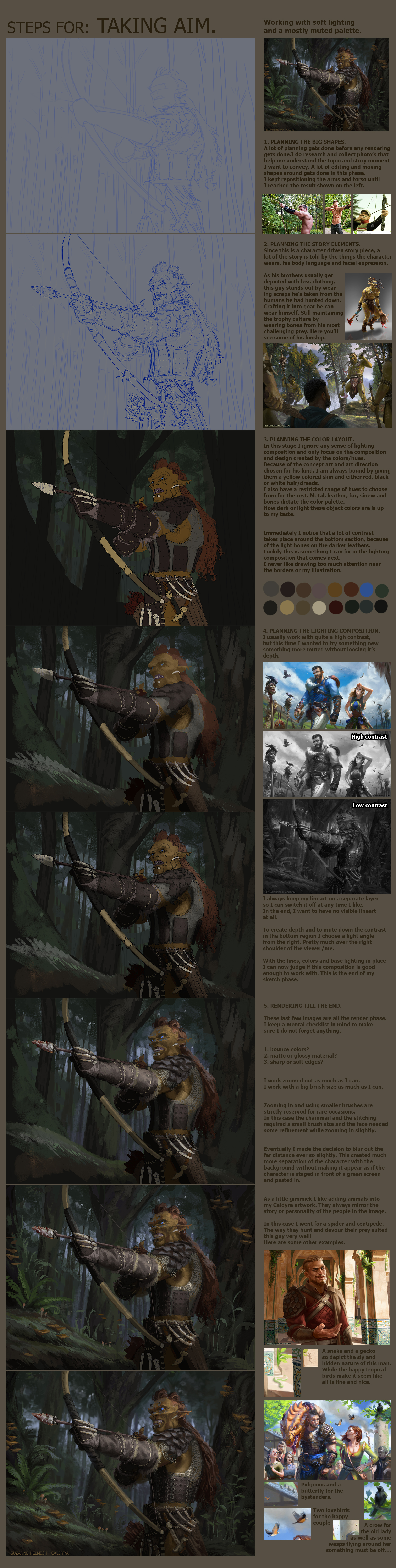 Taking aim tutorial steps. by Suzanne-Helmigh