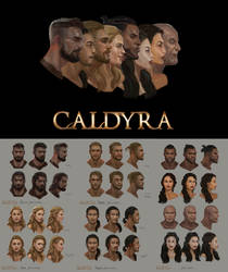 Caldyra facial concept art. by Suzanne-Helmigh