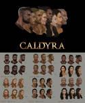 Caldyra facial concept art.