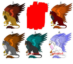 6 griffin adoptables - OPEN by Lily-Pad-Adoption