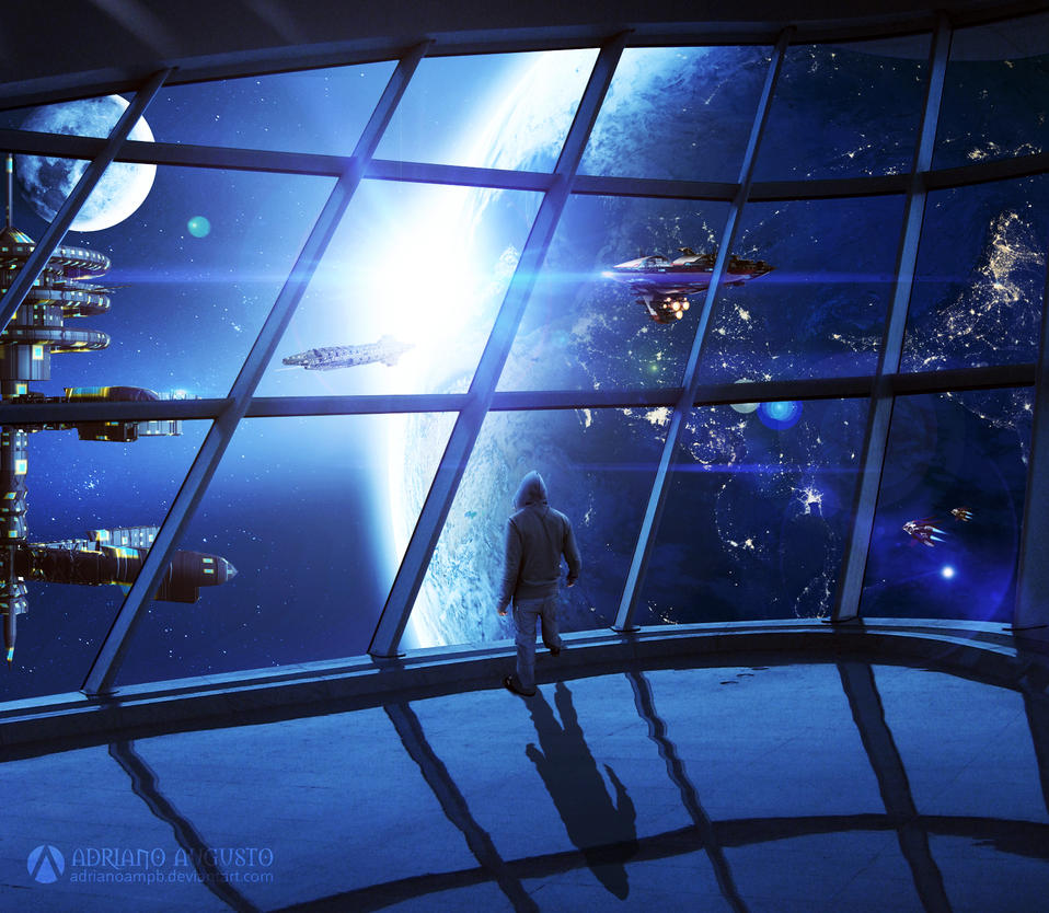 Exile in outer space by adrianoampb