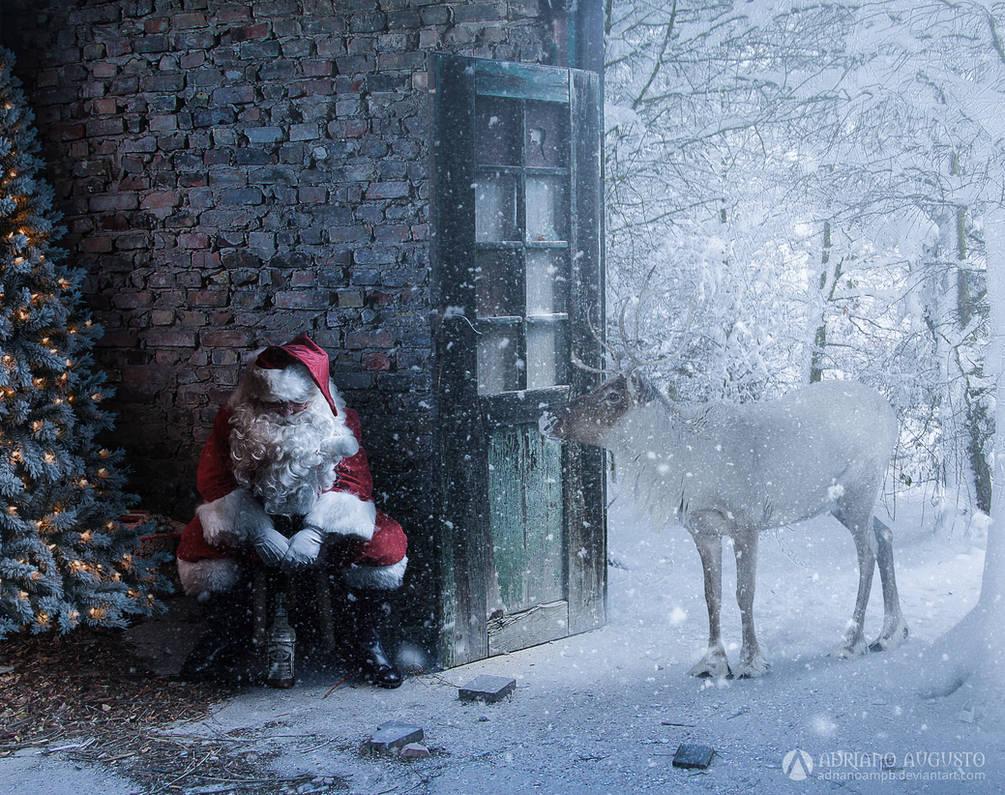 Sad Santa by adrianoampb