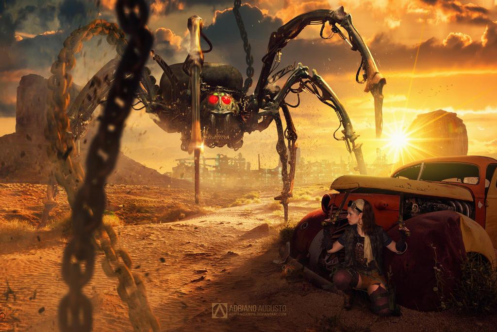 Steampunk Spider by adrianoampb