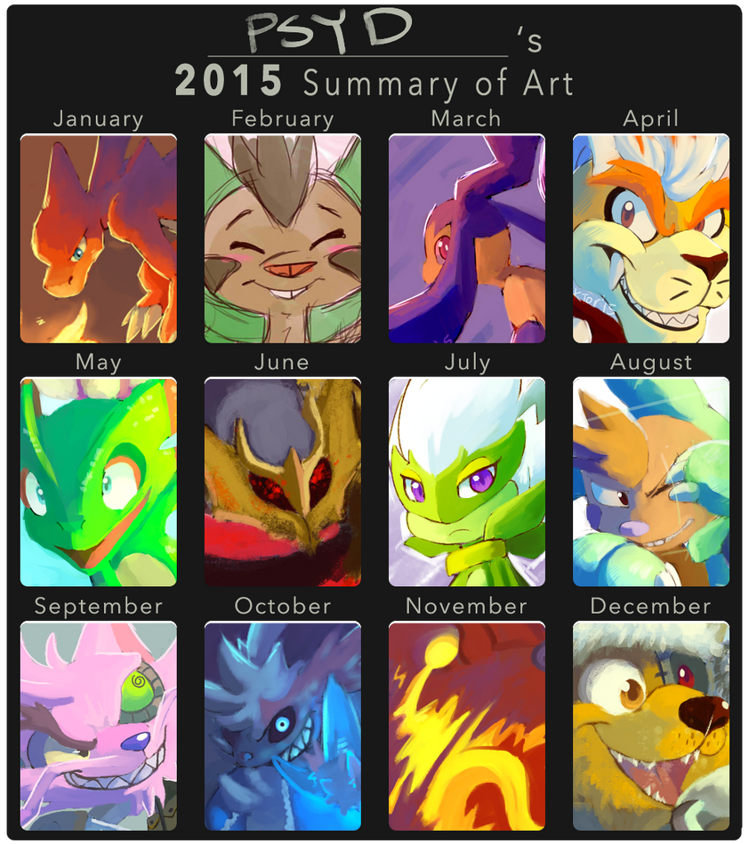 2015 Summary of Art by PsyDoktor