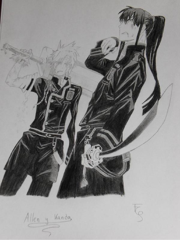 Allen y Kanda by Timagirl