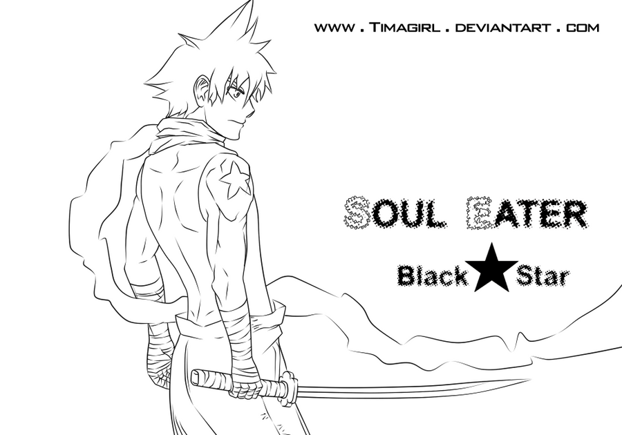 Lineart Soul Eater -Black Star by Timagirl on DeviantArt