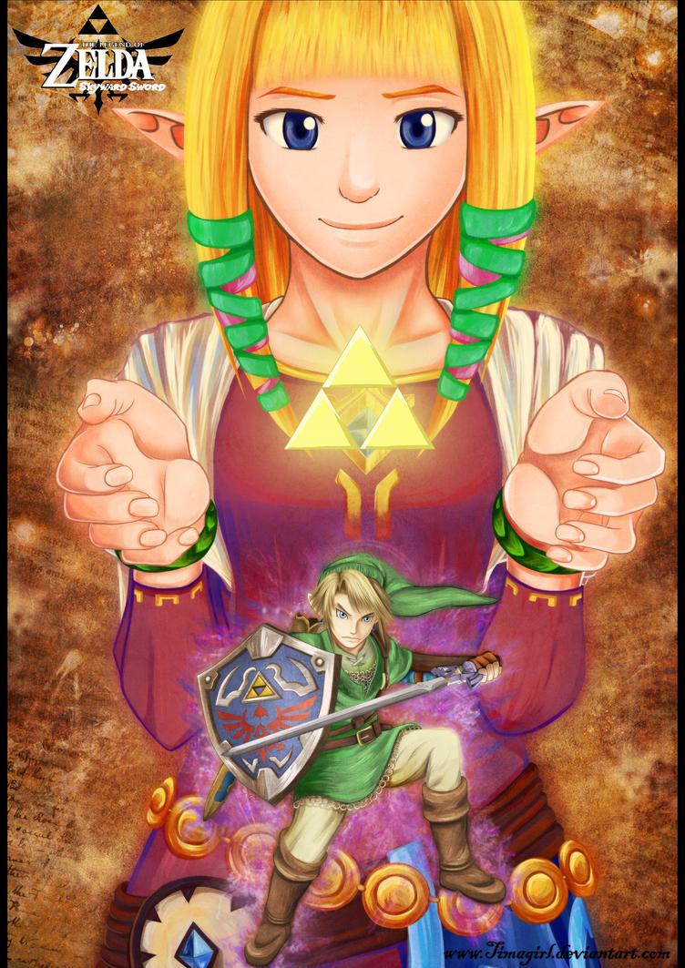 Zelda and Link - Skyward Sword by Timagirl