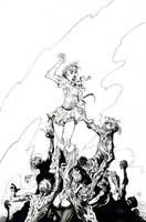 The Zombie Project pin-up by KenHunt
