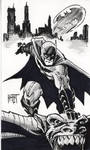 Batman grayscale sketch card 2