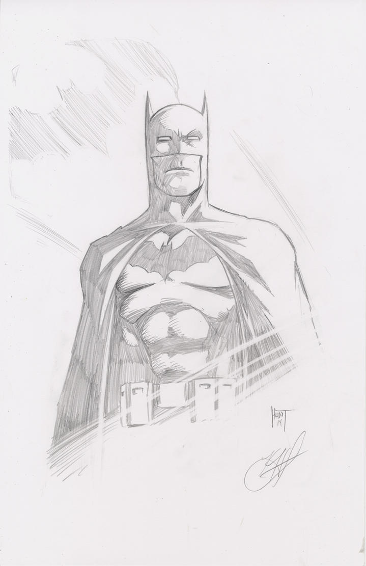 Batman Sketch by KenHunt
