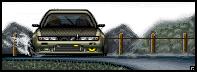 Japan Car Drifting -PIXEL ART- by Raphaero