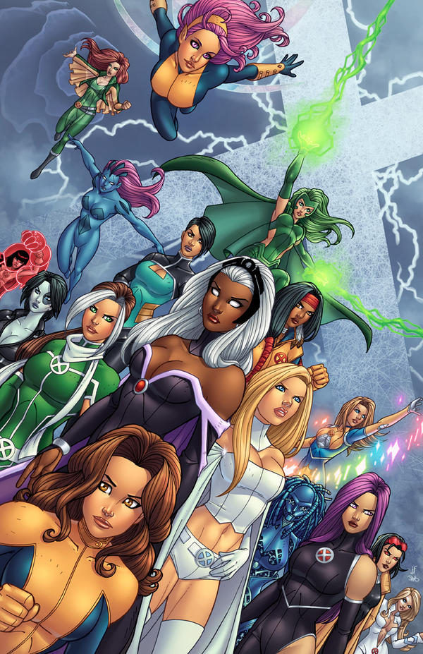 Modern X-Women    artwork by Jamie Fay and Danielle Alexis St  Pierre    X Men Characters Female Names