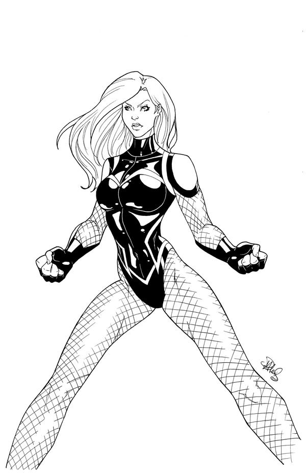 black canary coloring pages - black canary free colouring pages