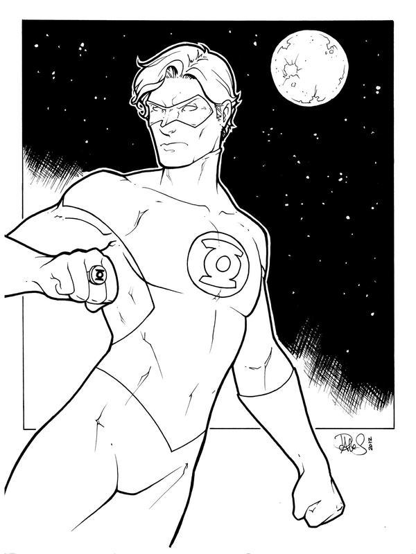 Green Lantern lines by DStPierre