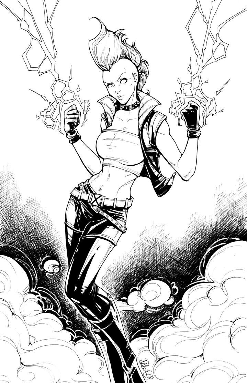 X Men Coloring Pages Comic Jean Grey
