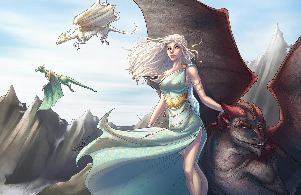 Dragons game of thrones colors - Daenerys Mother Of Dragons By Dstpierre