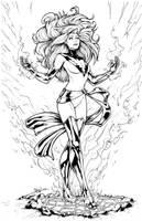 Phoenix Lineart by DStPierre