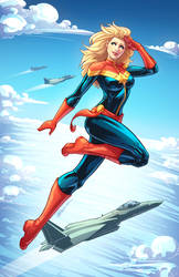 Captain Marvel Colored