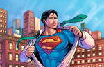 Superman Print Colors By J Skipper