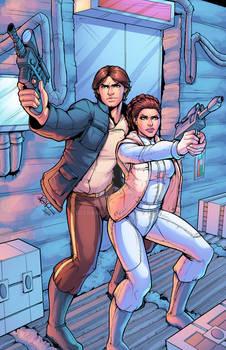 Han And Leia Colored By J Skipper