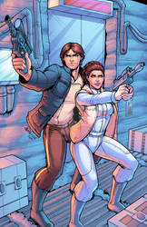 Han And Leia Colored By J Skipper