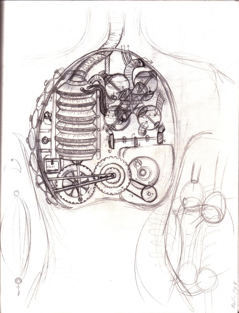 mechanical heart and lung by e1l0n3wy on deviantart