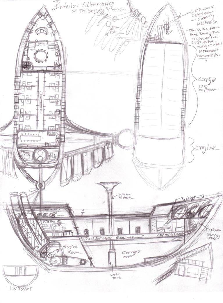 airship schematic by e1l0n3wy on deviantart