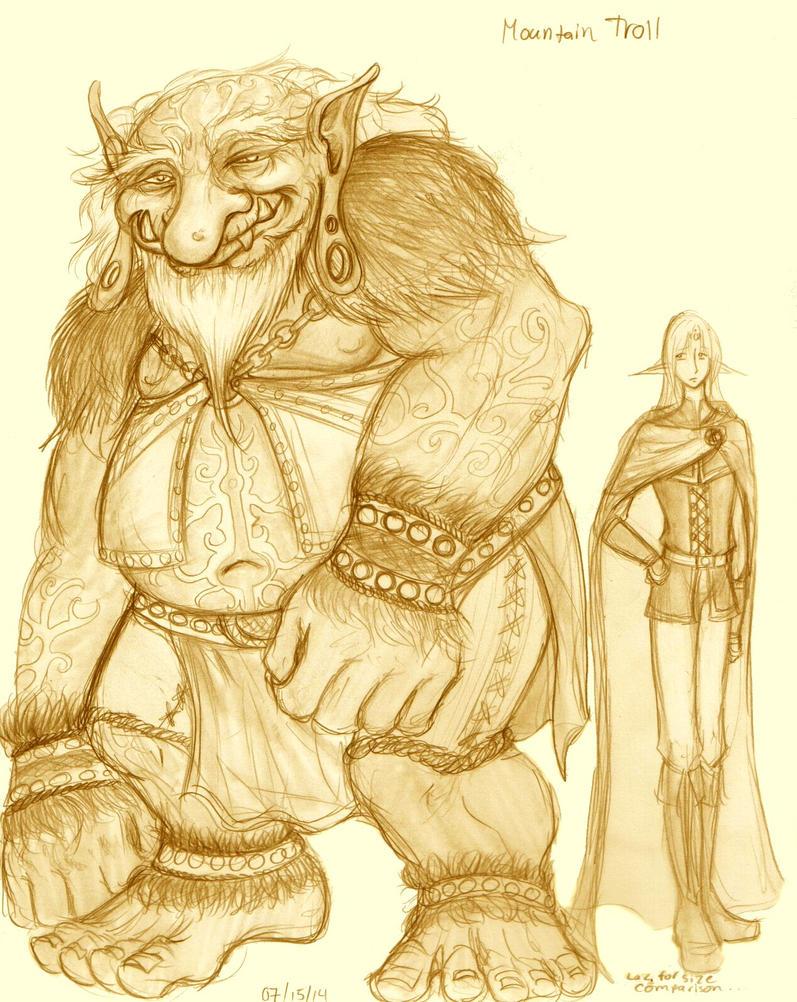 Mountain Troll by E1L0n3wy