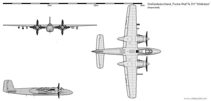 Grosserdeutschaldn - Focke-Wulf Ta 311B Wildkatze