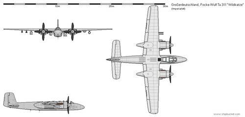 Grosserdeutschland - Focke-Wulf Ta 311C Wildkatze
