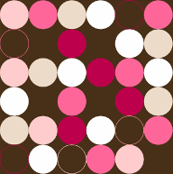 Dots - Brown and Pink by keeenna