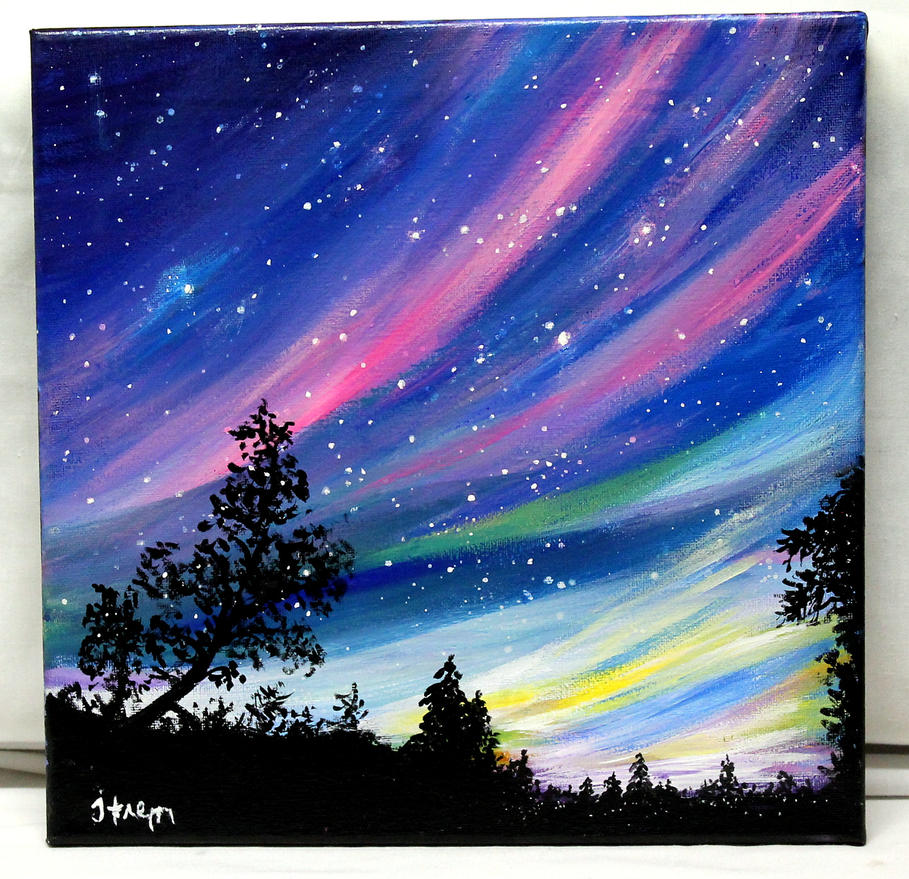 Easy Things To Paint Lightsscape By Thisarttobeyours On Deviantart