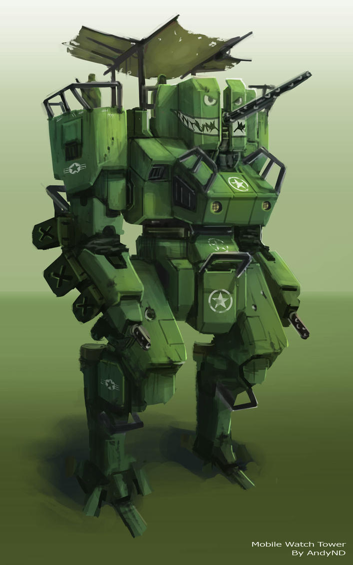 Mobile Watch Tower Mech by AndyND