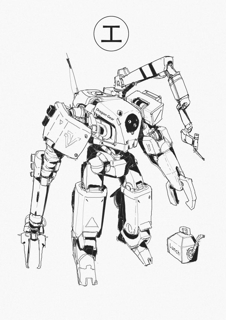 Dragon Gear_ Construction mech by AndyND