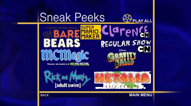 Custom Sneak Peeks Menu 5 Part 2 By Pichu8boy2Arts
