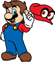 Mario and Cappy by Pichu8boy2Arts