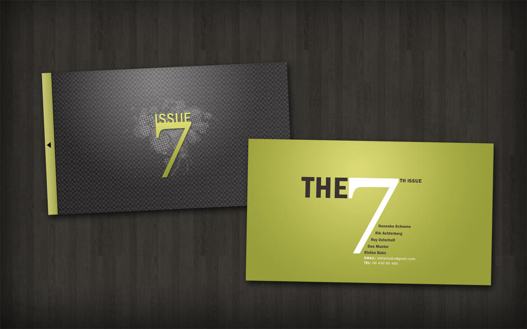 Business Card - Issue 7 by DRMDesign on DeviantArt