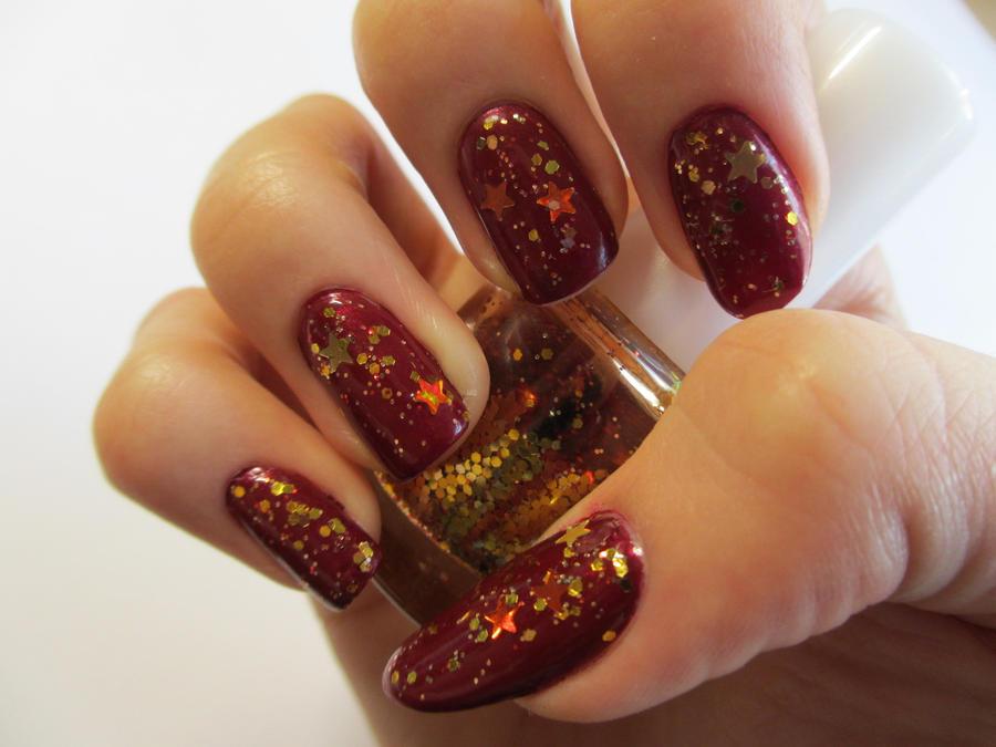 Autumn Glitter Nails by JofoKitty on DeviantArt
