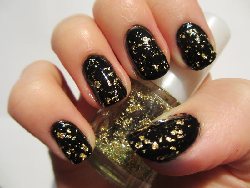 Gold Leaf Nails by JofoKitty on DeviantArt