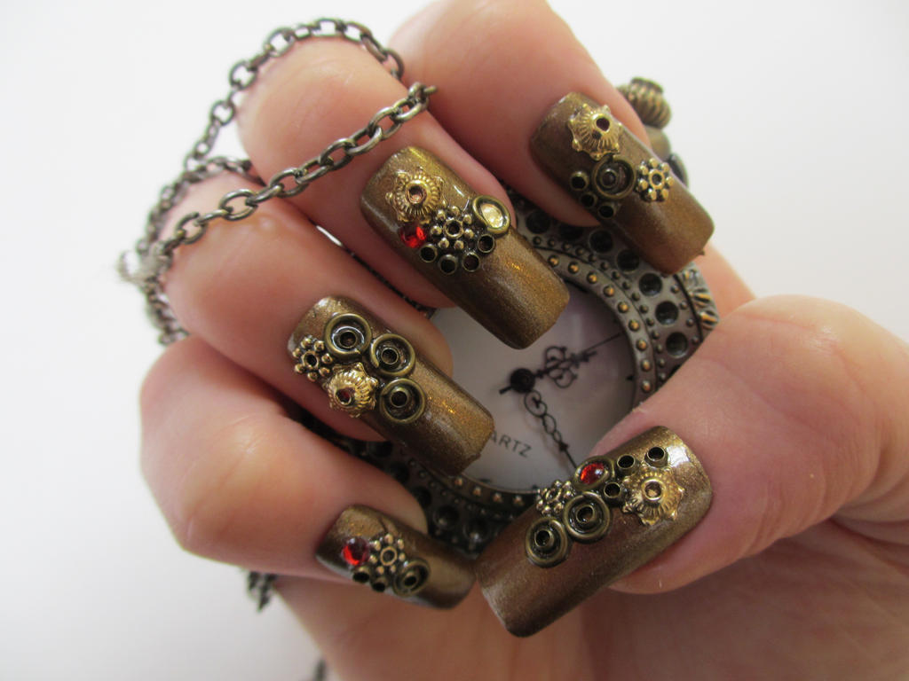 Steampunk nails now available by jofokitty on deviantart steampunk nails now available by jofokitty prinsesfo Images