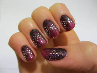 Hand-placed Glitter Nails by JofoKitty