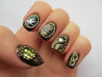 Bioshock Infinite Nails by JofoKitty
