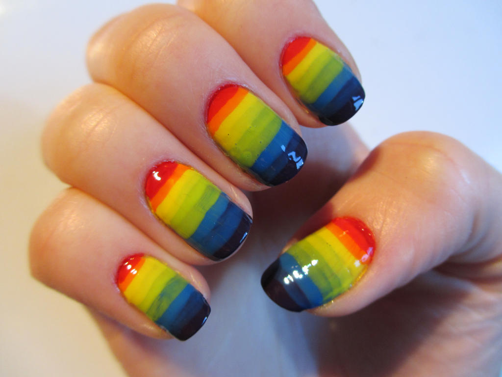 Mega Rainbow Nails by JofoKitty on DeviantArt
