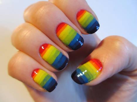 Mega Rainbow Nails