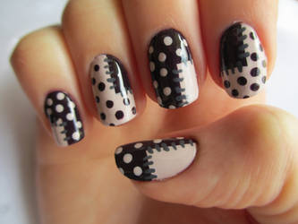 Patchwork Nails by JofoKitty